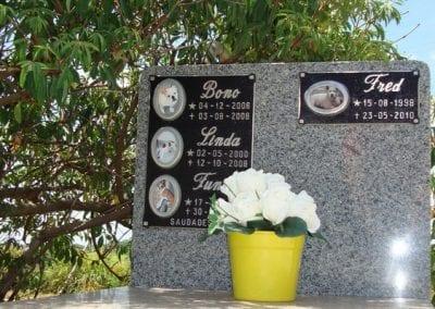 Cemiterio de Animais Botucatu Sepultamento de animais Quadra com lapide 1 1