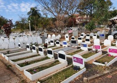 Cemiterio de Animais Botucatu Sepultamento de animais Quadra com lapide 19