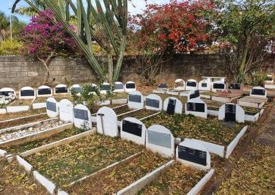 Cemiterio de Animais Botucatu Sepultamento de animais Quadra com lapide 4